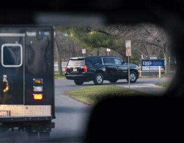 A motorcade with President-elect Joe Biden aboard arrives at Delaware Orthopaedic Specialists to see a doctor
