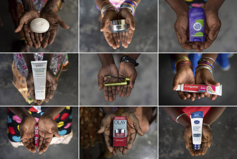 The hands of five generations of women from a family that has worked on the same palm oil plantation since the early 1900s hold products made by iconic Western companies that source palm oil from Indonesia and Malaysia.