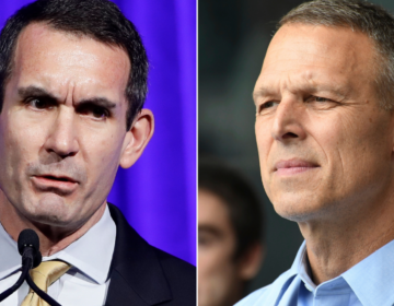 This photo collage shows 10th Congressional District candidates: Democrat Eugene DePasquale, left, and Republican Scott Perry, right. (AP Photo)
