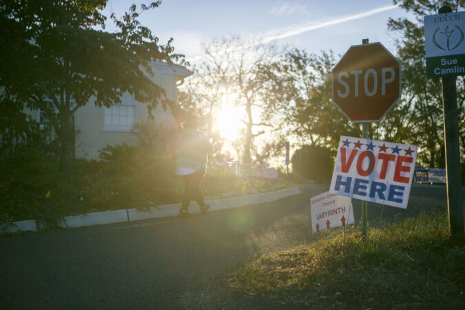 Polls open at 6 A.M in Cherry Hill, N.J. (Miguel Martinez for WHYY)