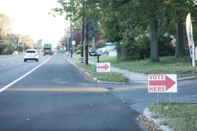 Election Day in Cherry Hill, N.J. (Miguel Martinez for WHYY)