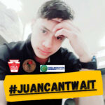 Social justice and immigrants rights groups have launched a social media campaign urging the Delaware County District Attorney to drop charges against Juan Chub-Funes under the tag #JuanCantWait. (image via The Black and Brown Coalition of PHL's Twitter account)