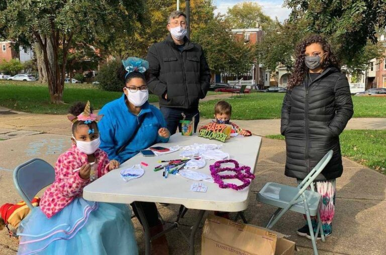 West Side Grows held a Halloween event for the children of Wilmington's West Side neighborhood. Masks were given distributed to attendants. (Courtesy of Jason McCall)