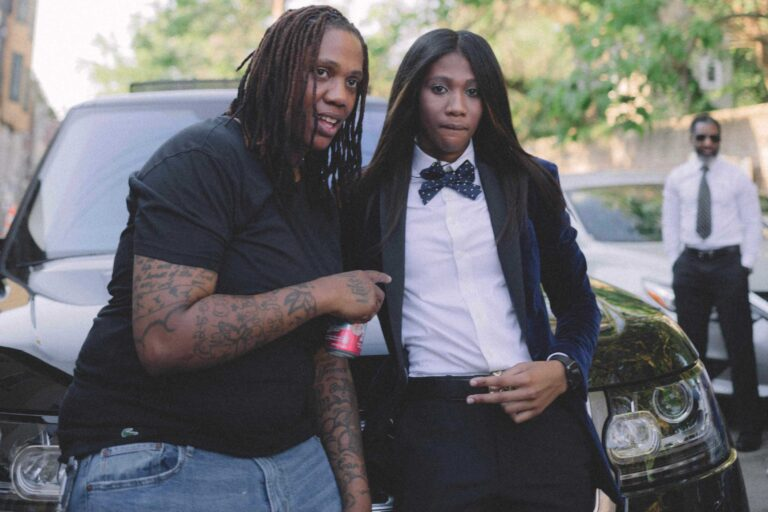 Melanie Raye, left, poses with her daughter Aliyah Raye, right, the day of her senior prom. Melanie was fatally shot in North Philly this August, a week before she was set to get married. (Courtesy of Aliyah Raye)