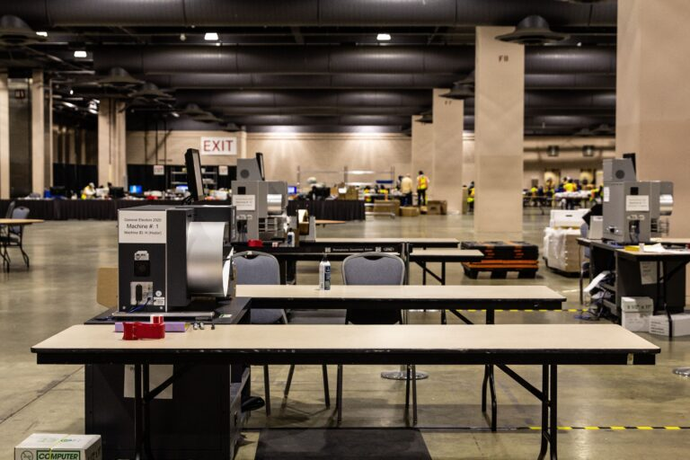 Philadelphia's ballot counting process winded down by Friday afternoon. (Kimberly Paynter/WHYY)