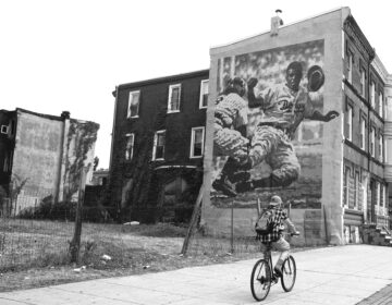 The mural honoring Jackie Robinson by David McShane sits at 2803 North Broad Street and it's a special piece to the neighborhood. (Ed Hille/In Plain Sight: Public Art in Philadelphia)