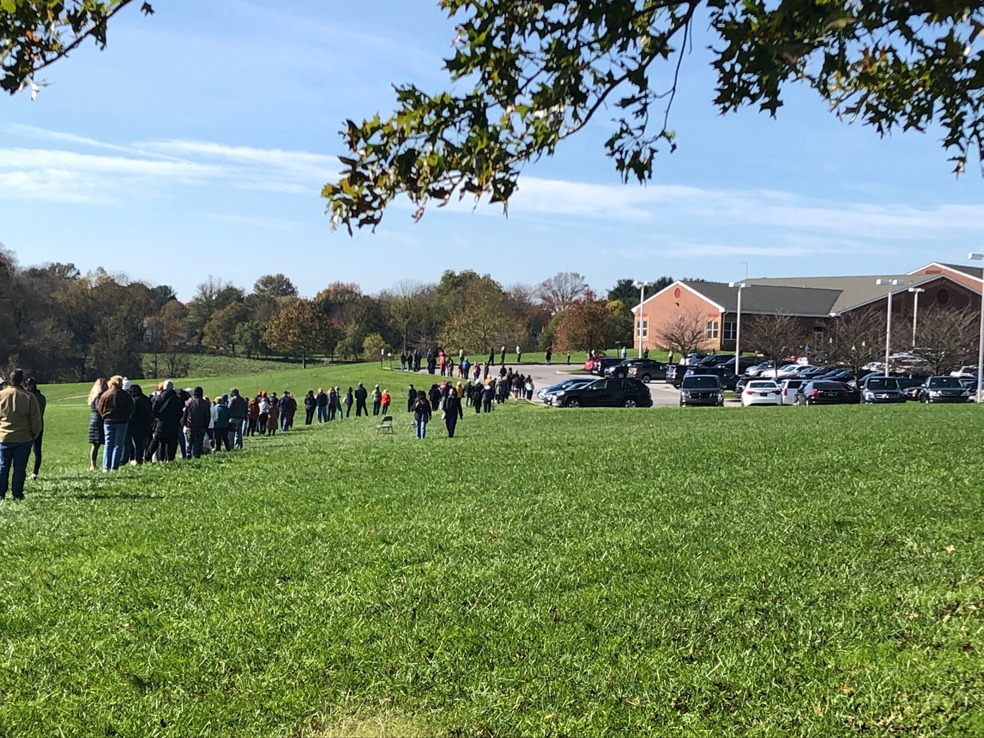 The line of voters kept growing all morning at North Star Elementary School in Hockessin