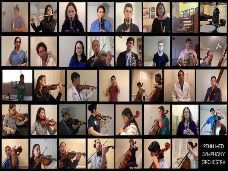 The virtual edition of the Penn Med Symphony Orchestra.