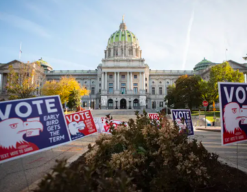 Roughly two dozen lawmakers called for the creation of an investigatory committee with subpoena power to conduct an immediate audit, saying they had fielded widespread doubts about the fairness of the Nov. 3 presidential election. (AMANDA BERG / FOR SPOTLIGHT PA)