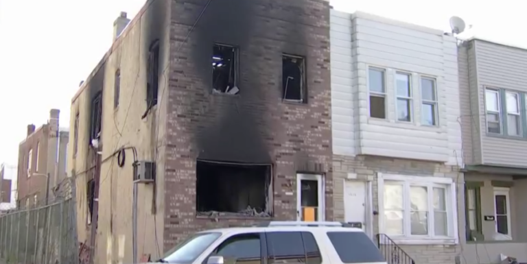 A house fire was reported at 1 a.m. on Nov. 21, 2020 in the Grays Ferry section of South Philadelphia. (NBC10)