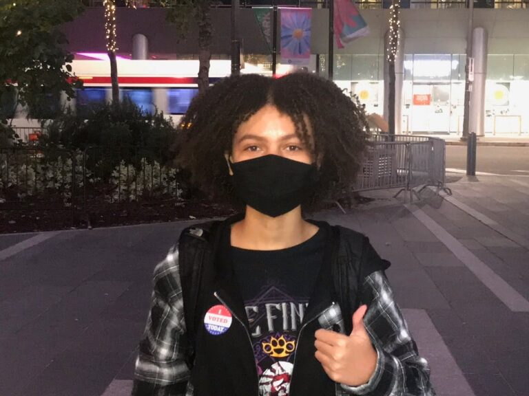 Zipporah Mooney voted for the first time this election. (Courtesy of Zipporah Mooney)