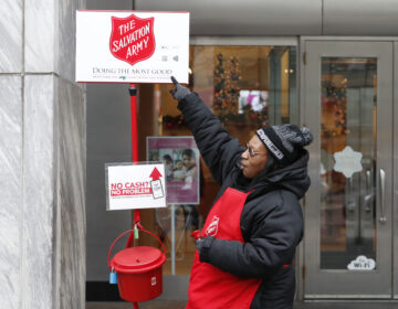 The Salvation Army's red-kettle campaign is expecting fewer donations and volunteers this year as a result of the coronavirus pandemic. (Charles Rex Arbogast/AP Photo)
