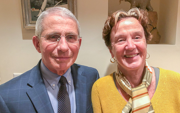 Anthony Fauci and his wife, Christine Grady, spoke for a StoryCorps interview in Maryland on Nov. 17. He says he'll miss seeing their daughters this Thanksgiving, but he's proud of their decision to not join them. (Courtesy of Anthony Fauci)