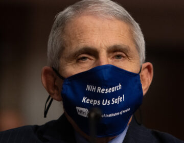 Dr. Anthony Fauci, director of the National Institute of Allergy and Infectious Diseases at NIH, is pictured on Capitol Hill on Sept. 23. Fauci tells NPR it's