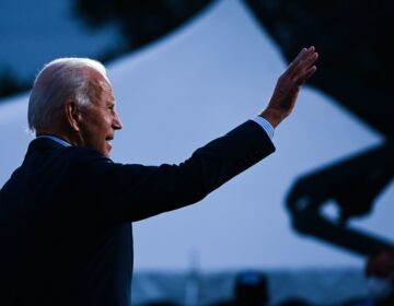 Democratic presidential nominee and former Vice President Joe Biden speaks to Union members after touring a plumbers union training center in Erie, Pennsylvania