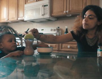 Nani feeds her son Darnez in the movie