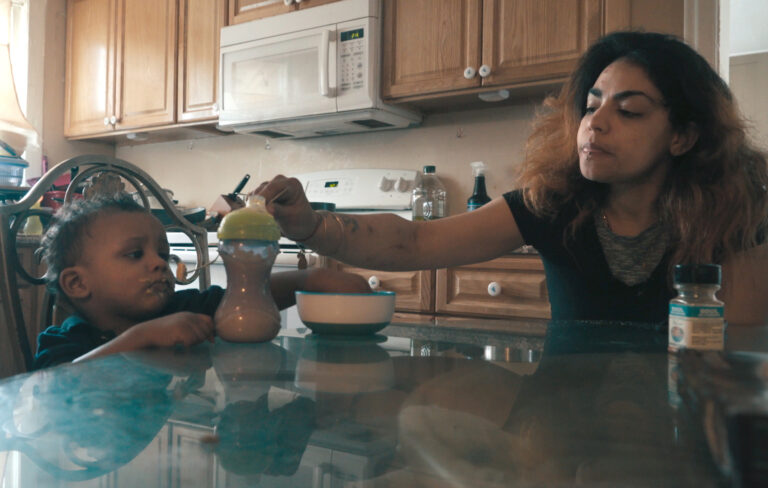 Nani feeds her son Darnez in the movie