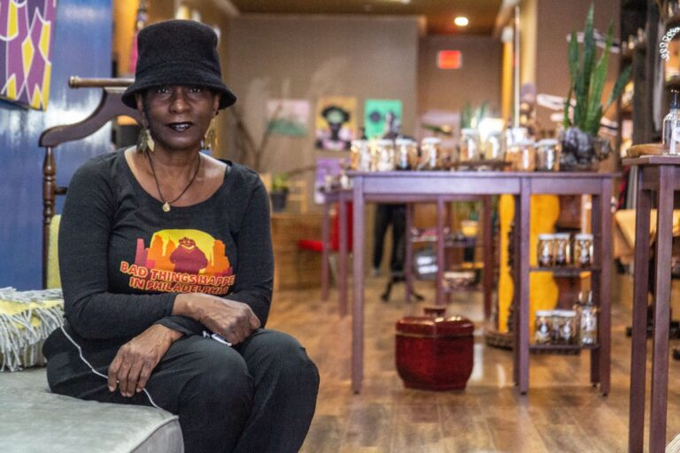 Dorothea Gamble in her store Trunc in Northern Liberties.