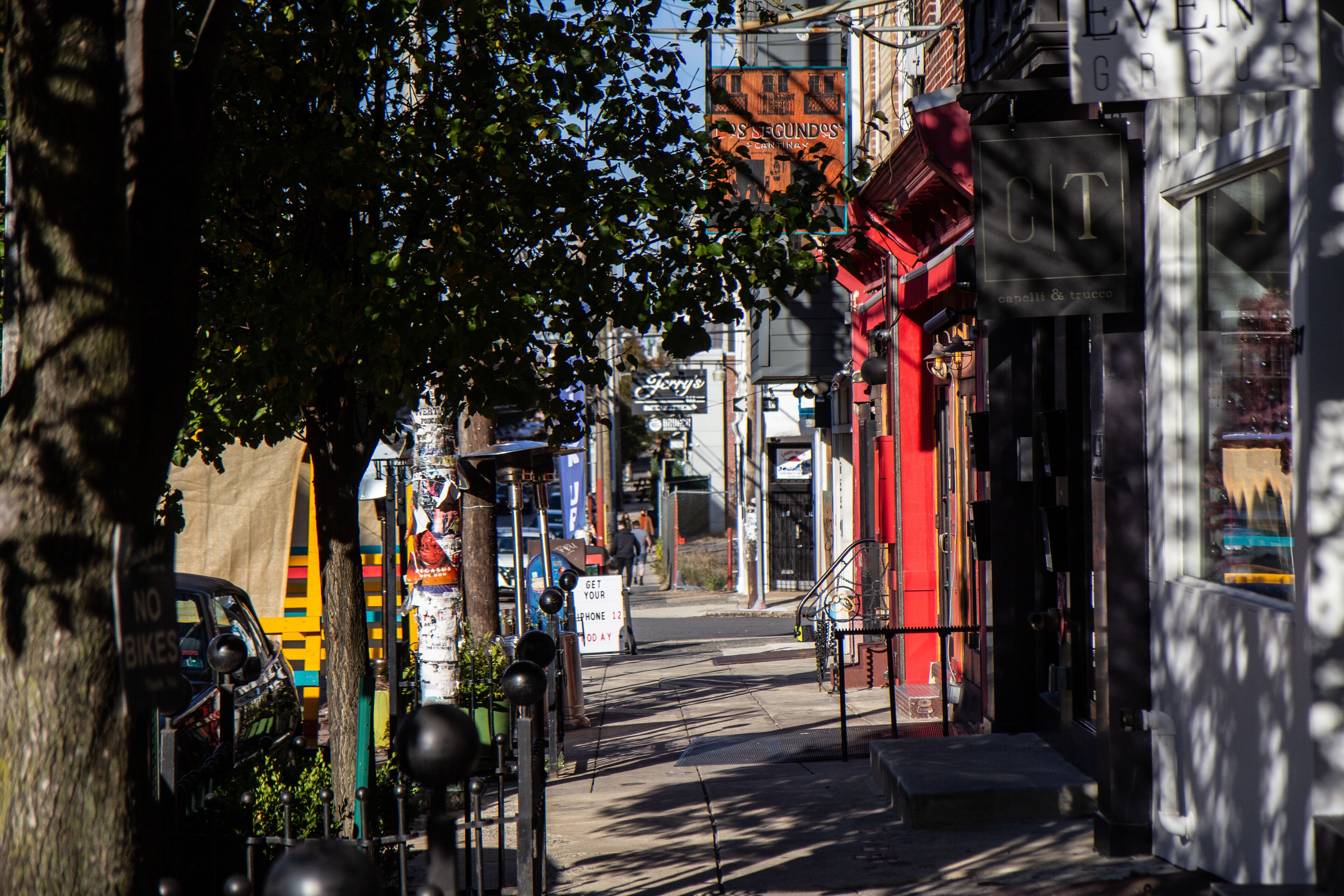 Businesses on 2nd Street in Northern Liberties.