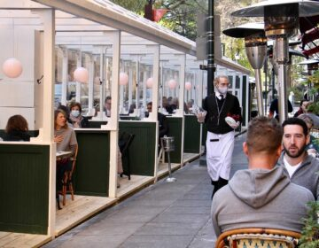 Outdoor dining at Parc on Rittenhouse Square