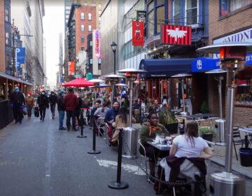Outdoor dining in Philadelphia