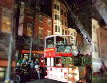 Firefighters were able to bring the Nov. 19 fire at 1208 Walnut St. under control. (Twitter/@PhilaFireDept)