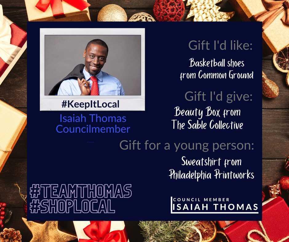 "Councilmember Isaiah Thomas ""Keep it Local"" advertisement"