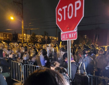 Marchers protesting the police killing of Walter Wallace Jr. were met with more police PROVIDED BY AMISTAD LAW PROJECT