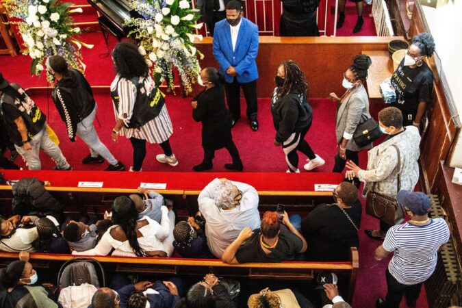 Mourners line up to pay their respects to Walter Wallace Jr.