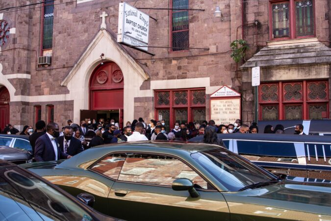 Mourners gathered in North Philadelphia to say goodbye to Walter Wallace Jr.