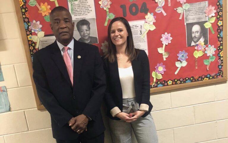 Universal Daroff Charter School Principal James Ruffin, left, and Assistant Principal Katie Hollenbach. (Devon Allen/Universal Daroff Charter School)