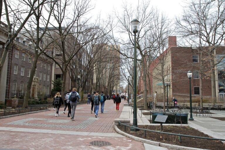 Locust Walk on the University of Pennsylvania campus. (Ximena Conde/WHYY)