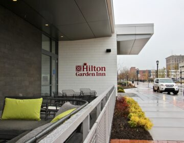 Hilton Garden Inn Camden Waterfront opened on Friday, Dec. 4, 2020, becoming the first hotel in Camden in more than 50 years. (Emma Lee/WHYY