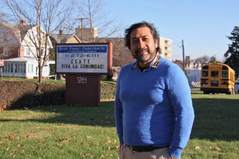 Obed Arango is originally from Mexico and has lived in Montgomery County for 15 years. He is the founder and executive director of the Centro de Cultura Arte Trabajo y Educación, which serves the large and growing Spanish-speaking community in Norristown. (Emma Lee/WHYY)