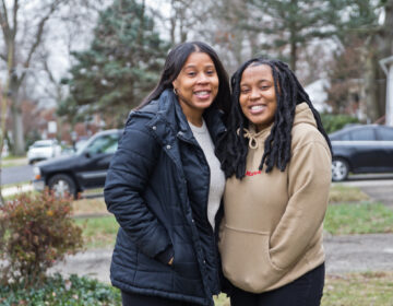 Ashley Dawson (left) and her daughter Shana Dawson at their home in Aldan, Pa. (Kimberly Paynter/WHYY)