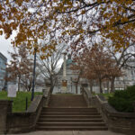 The Montgomery County Courthouse Plaza in Norristown, Pa. (Kimberly Paynter/WHYY)