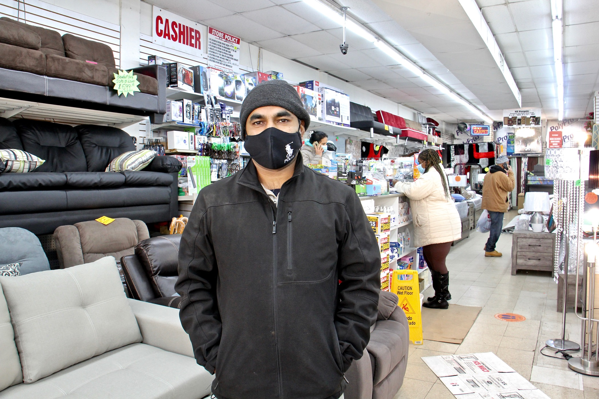 Mohammed Uddin, proprietor of RC Bargain store