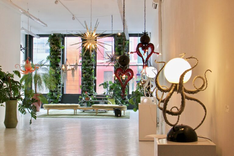 HOT•BED gallery in Center City showing sculptures from Adam Wallacavage