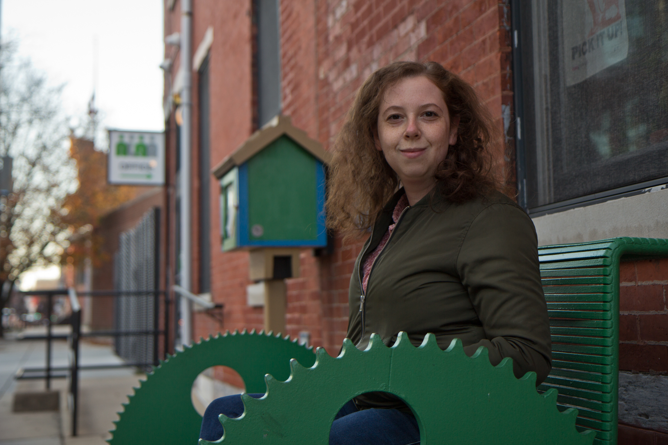 Claire Adler stands outside Northern Liberties Neighbors Association