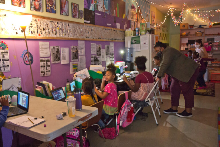 Classroom in North Philadelphia. (Kimberly Paynter/WHYY)