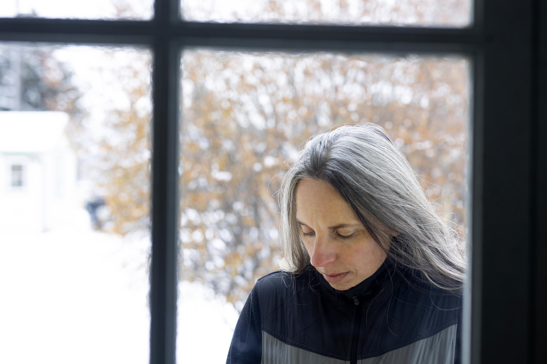 Angela Kociolek stands for a portrait at her home