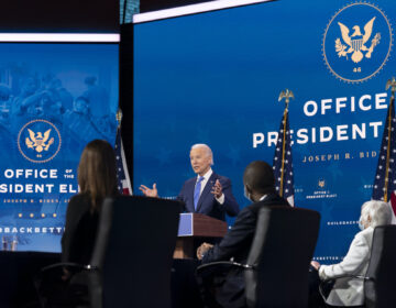 President-elect Joe Biden speaks at a news conference to introduce his nominees and appointees to economic policy posts at The Queen theater, Tuesday, Dec. 1, 2020, in Wilmington, Del. (AP Photo/Andrew Harnik)
