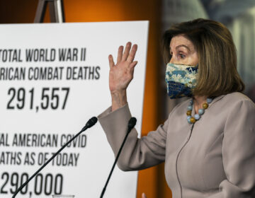 House Speaker Nancy Pelosi of Calif., speaks during a news conference at the Capitol, Thursday, Dec. 10, 2020, in Washington.  (AP Photo/Manuel Balce Ceneta)