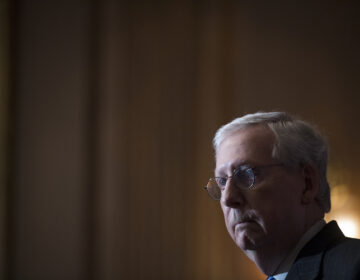 Senate Majority Leader Mitch McConnell of Ky., speaks during a news conference with other Senate Republicans on Capitol Hill in Washington, Tuesday, Dec. 15, 2020. (Rod Lamkey/Pool via AP)