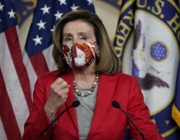 House Speaker Nancy Pelosi of Calif., speaks to the media, Wednesday Dec. 30, 2020, on Capitol Hill in Washington. (AP Photo/Jacquelyn Martin)