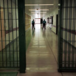 Officers at the Cumberland County Prison walk the halls