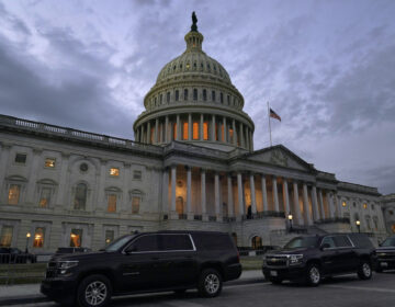 Dusk falls over the Capitol building