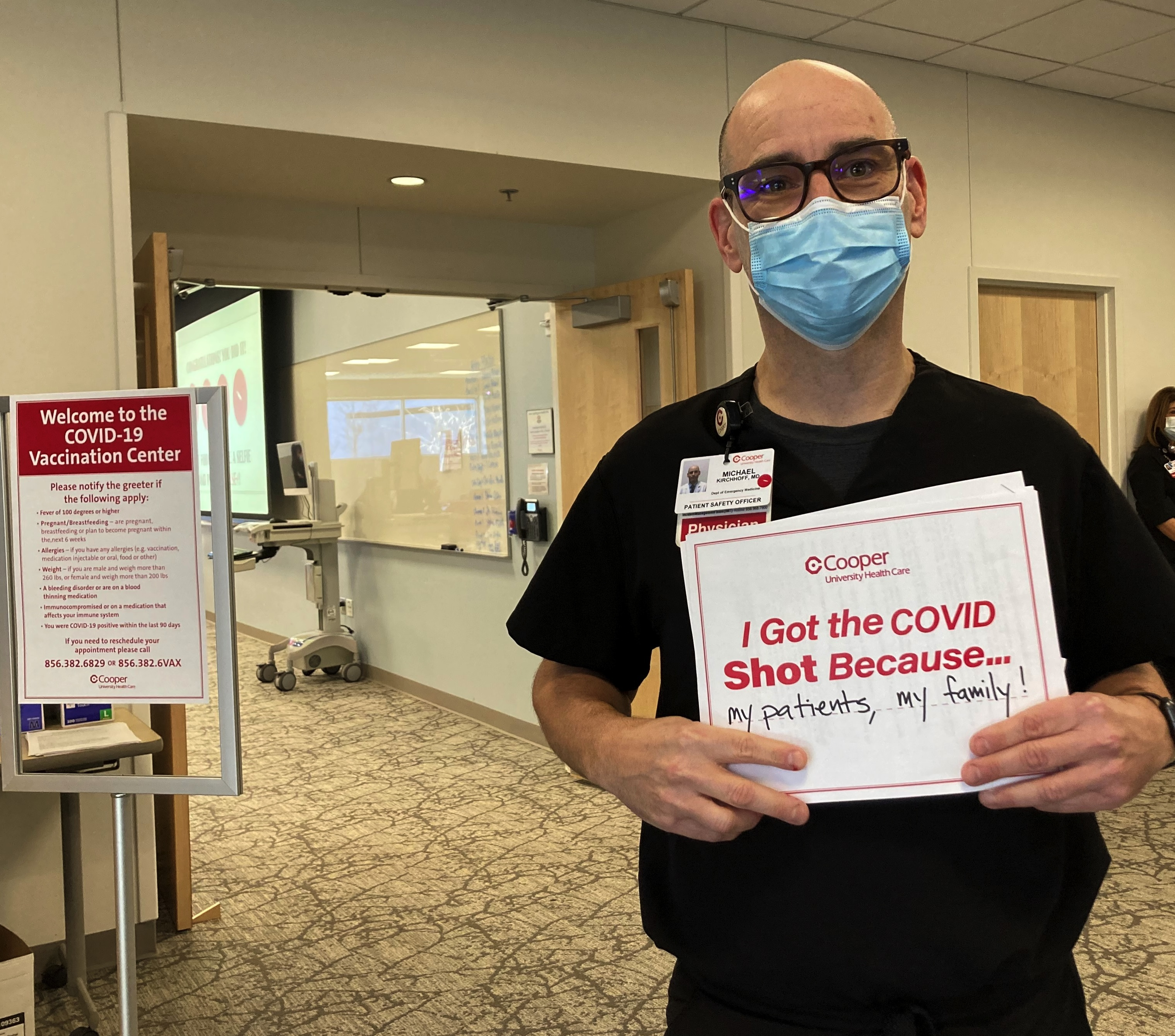 Michael Kirchhoff of Cooper University Health Care poses for a photo