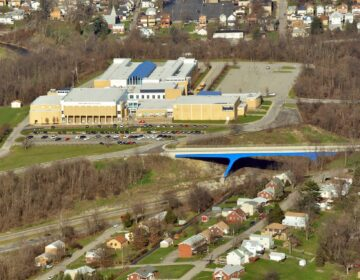 Canon-McMillan High School in Washington County. (Courtesy of Marcellus Air)