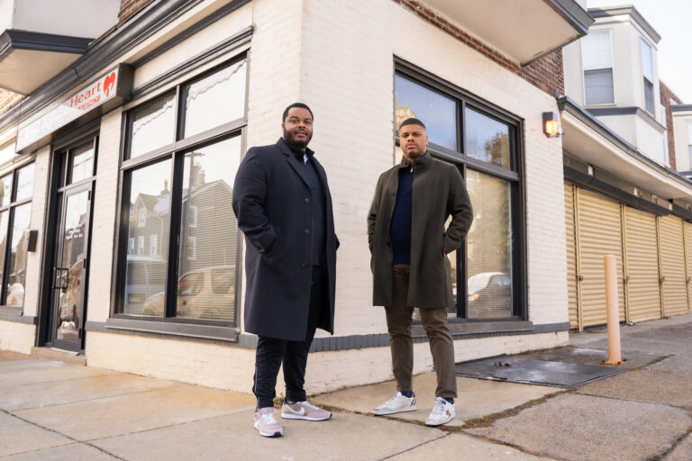 Bryheim Murray and Kyle Easley, partners and owners of BKP Development Group. (Photo by Ritchie King)